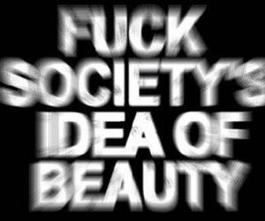 black and white, fuck, and society image