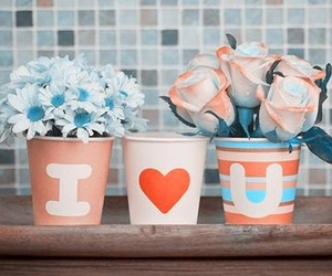flowers, love, and I Love You image