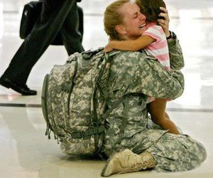 army, daughter, and love image
