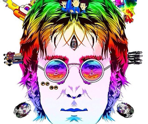 acid, art, and john lennon image