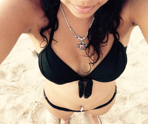 beach, enjoy, and sun image