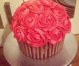 cake, rose, and cupcake image