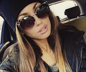 sunglasses, fashion, and girl image
