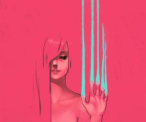 art, illustration, and paint image