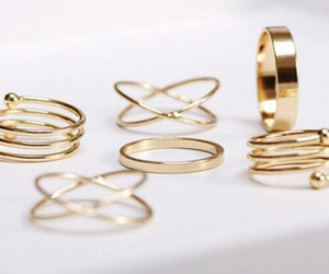 rings, fashion, and gold image