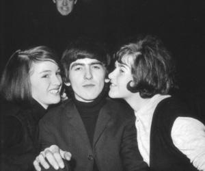 george harrison, Paul McCartney, and girls image