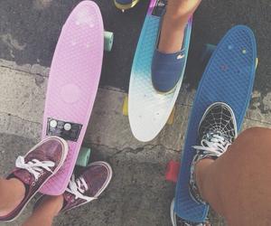 skate, friends, and vans image