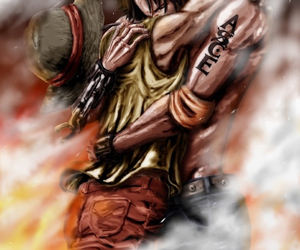 one piece, ace, and brothers image