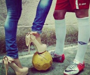 football, boy, and couple image