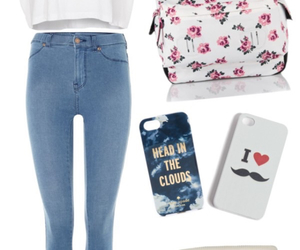 bag, iphone, and outfit image