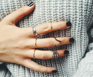 rings, nails, and sweater image