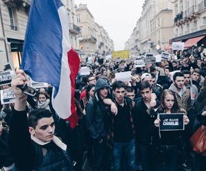 france, manifestation, and street image