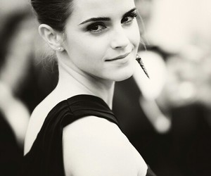 emma watson, harry potter, and black and white image