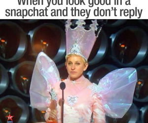 snapchat, funny, and ellen image