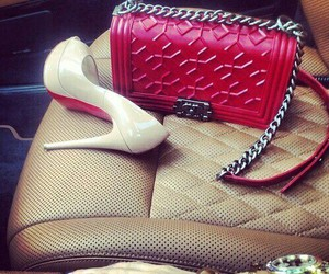 bag, heels, and chanel image