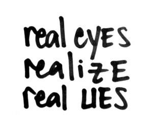quote, lies, and eyes image