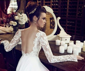 bride, white, and fashion image