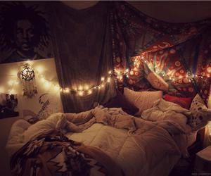 bedroom, bed, and grunge image