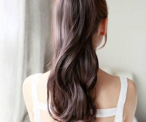 curly hair, hair, and long hair image