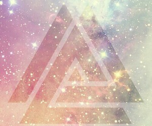 background, galaxy, and triangle image