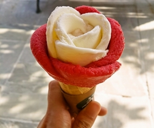 ice cream, cool, and flower image