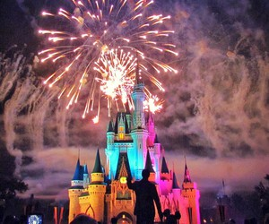 disney, fireworks, and wow image
