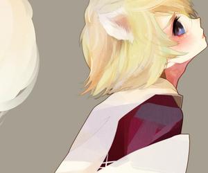 anime boy, blue eyes, and boy image