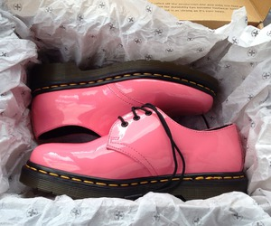 pink, shoes, and doc martens image