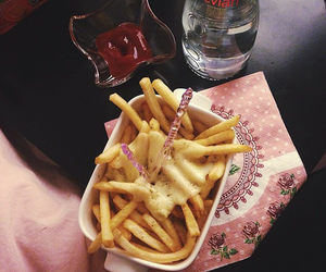 french, queso, and fries image