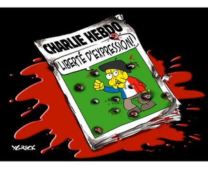 free, liberte, and je suis charlie image