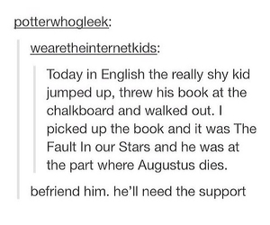 tumblr, the fault in our stars, and book image