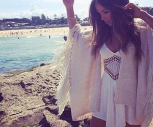 beach, summer, and dress image