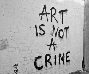 art, crime, and quotes image