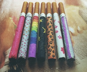 smoke, cigarette, and hipster image