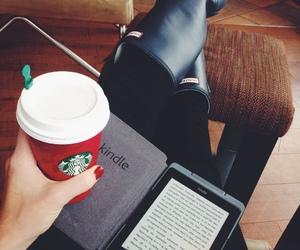 book, girls, and kindle image