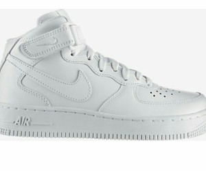 air force one, blanche, and nike image
