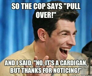 cardigan, funny, and happy image