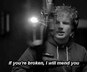 ed sheeran, broken, and music image