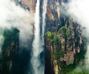 waterfall, nature, and venezuela image