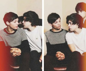larry, Harry Styles, and louis tomlinson image