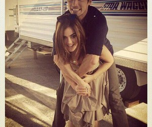 lucy hale, pretty little liars, and ian harding image
