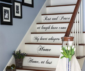 home decor, murals, and quote image