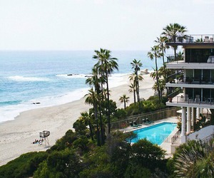 beach, beautiful, and house image
