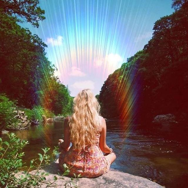 nature, meditação, and aura image