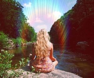 aura, blonde, and meditation image
