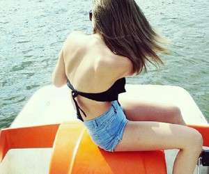 boat, girl, and summer image