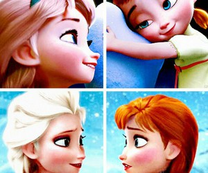 anna, frozen, and sisters image