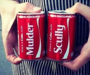 coca cola, david duchovny, and gillian anderson image