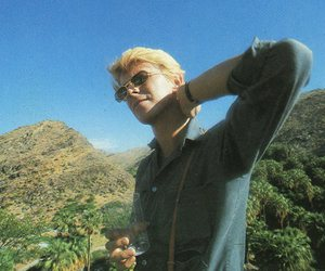 blonde, david bowie, and nature image