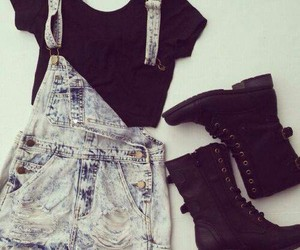 cool, denim, and cute image